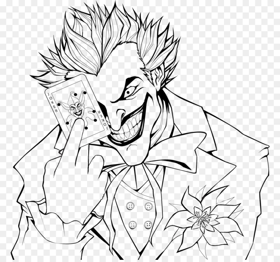 Joker Batman: Arkham City Harley Quinn Coloring book - joker clown ...