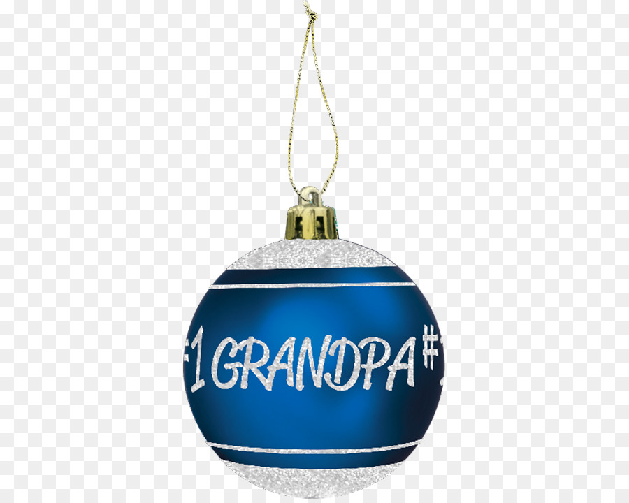 christmas ornament cobalt blue christmas day gifts grandpa