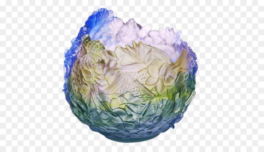 Daum Vase Floral Design Glass Decorative Arts Purple Crystal Stunning Perfume Bottles Decorative Arts