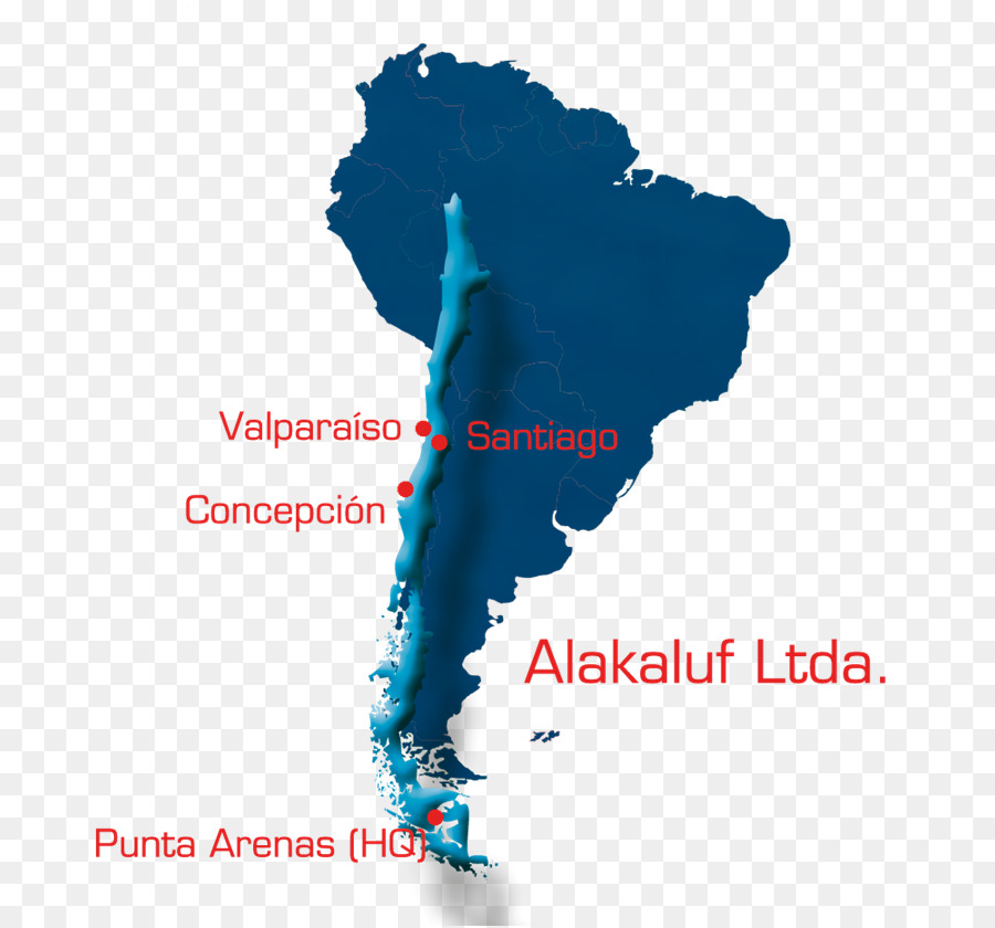 South America Latin America Blank map Vector graphics - punta arenas ...