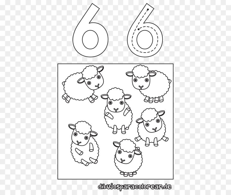 Boyama Kitabı çizgi Grafik Memeli Numarası Sayılar Boyama Png