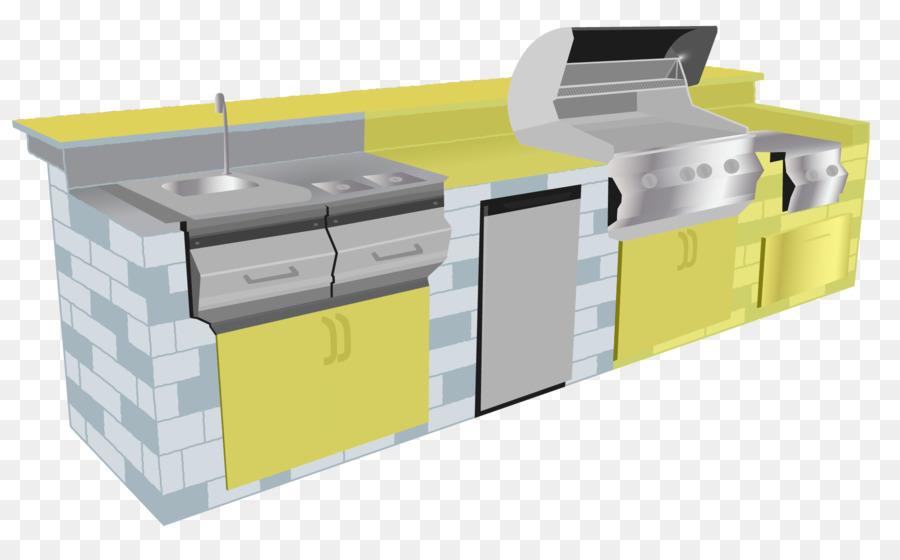 Tavolo da cucina Camino cucina all\'Aperto Grigliate - cassetto ...