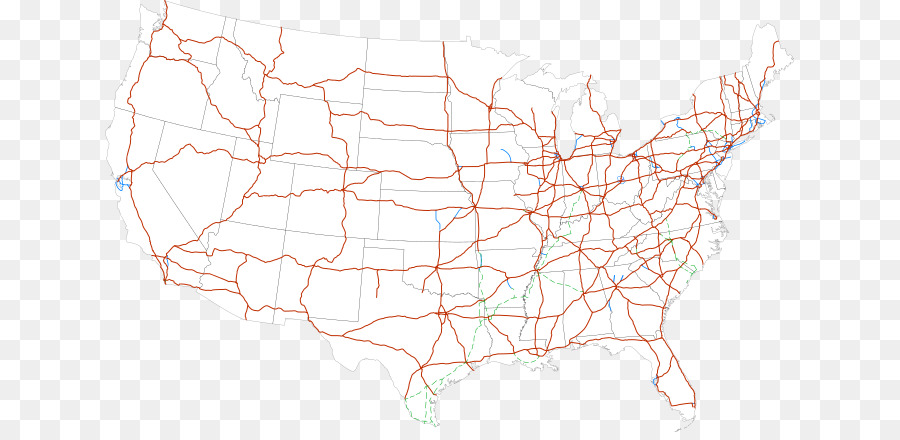 US Interstate highway system Controlled-access highway Road map ...