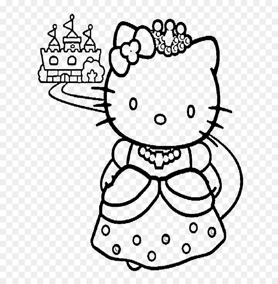 Hello Kitty libro para Colorear de la Princesa de Disney para ...