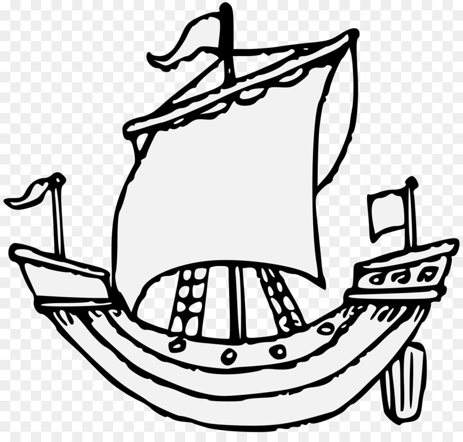 Clip Art Sailing Ship Boating Cruise Ship Coloring Pages Easy Png