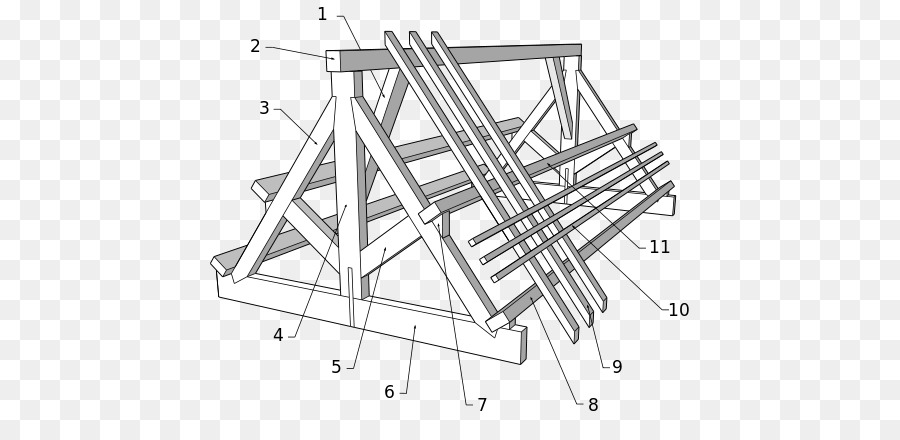 Timber roof truss Framing Gable roof Building - truss building png ...