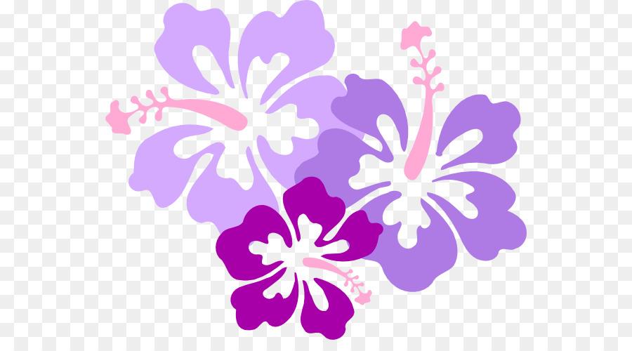 La Langue Hawaienne Clip Art Rosemallows Fleur Violet Hawaii