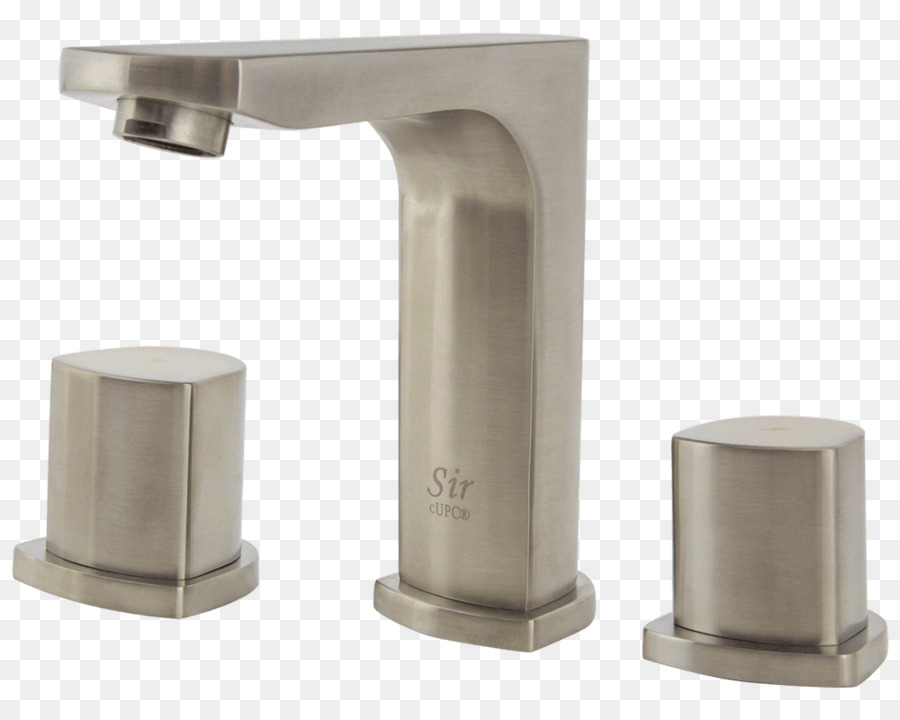 Faucet Handles Controls Brushed Metal Baths Bathroom Sink