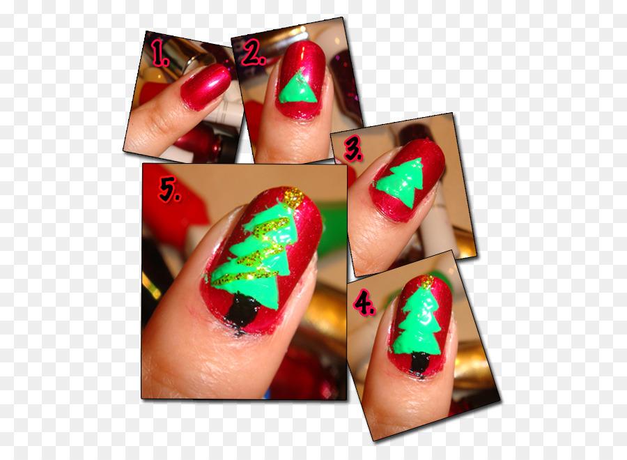 Nail Polish Manicure Nail Art Christmas Tree Christmas Nail Ideas