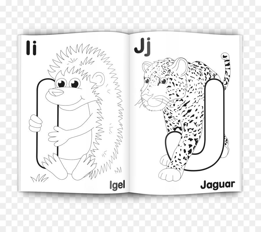 El alfabeto Tigre libro para colorear libro para Colorear ...