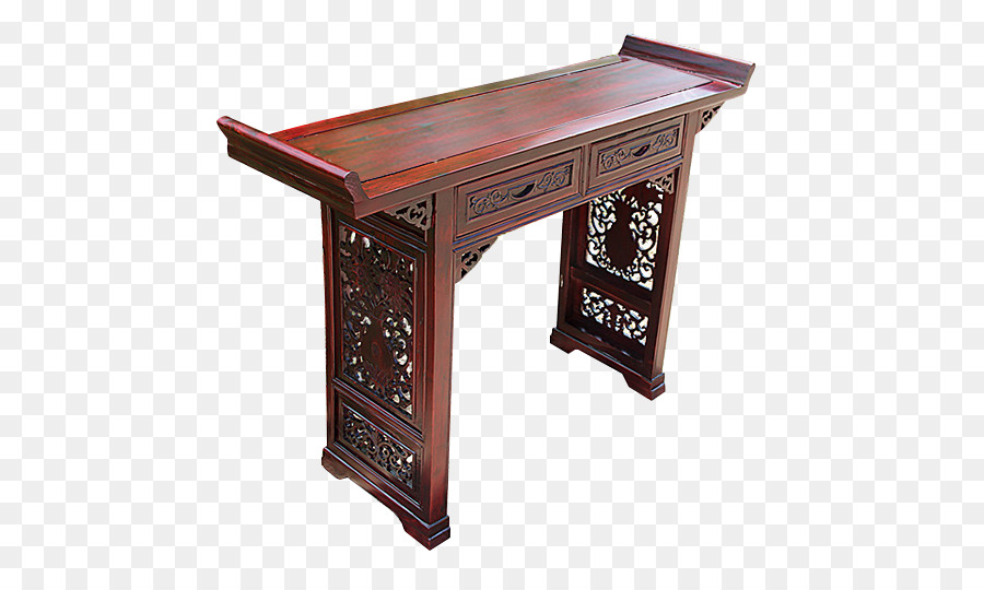 Table Drawer Tea Desk Furniture   Long Narrow Dining Table