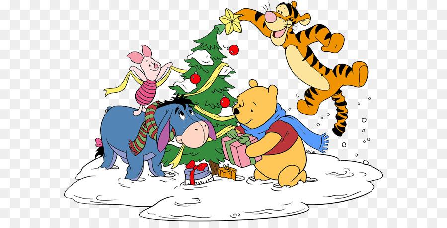 winnie the pooh clip art christmas day illustration eeyore winnie the pooh christmas - Pooh Christmas