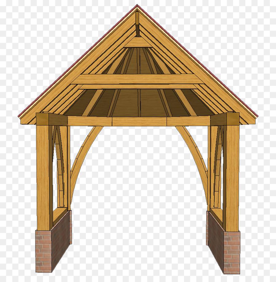 Porch Roof Gazebo Shed Framing - png download - 814*908 - Free ...