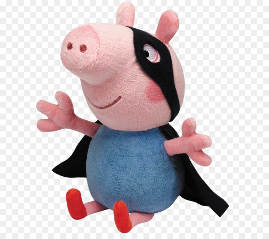 03e1dc9cabb George Pig Stuffed Animals   Cuddly Toys Ty Inc. TY Beanie Babies Medium Peppa  Pig Super Hero George Ty Beanie Babies Peppa Pig Regular Plush - toy png ...