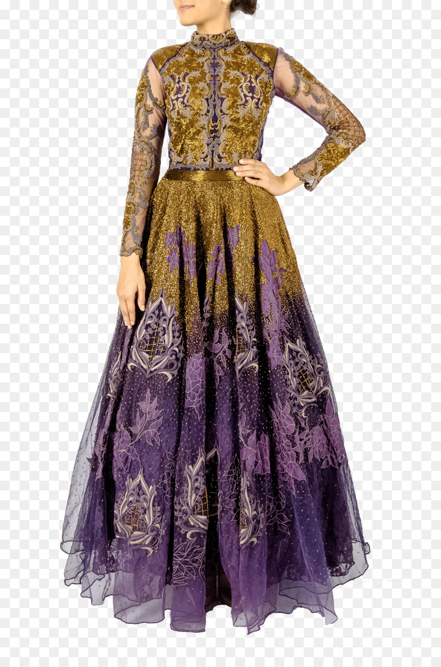 Costume design Dress Gown Purple - ombre couture gowns png download ...
