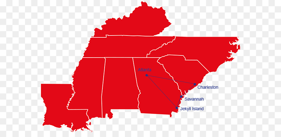 Southeastern United States Map Dixie Region Midwestern United States ...