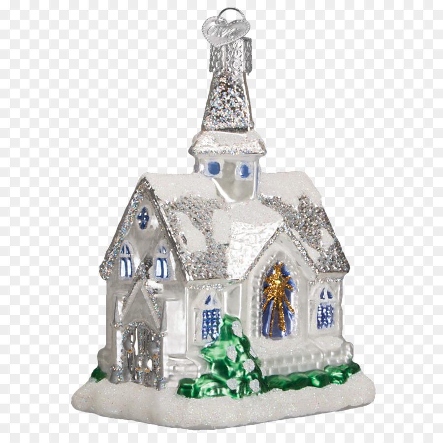 Weihnachten Funkelnde ornament Cathedral Ornament Weihnachten Kirche ...