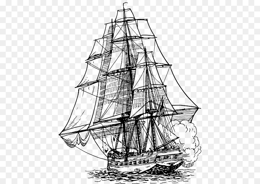 Incredible Frigate Drawing Vector Graphics Clip Art Image Mammoth Skeleton Wiring Cloud Hisonuggs Outletorg