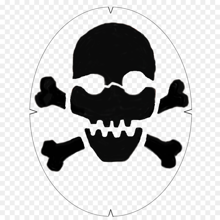 Skull and crossbones Vector graphics Human skull symbolism - bat ...