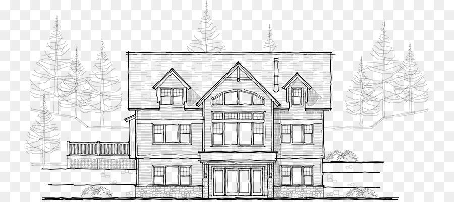 Manor House Sketch Architecture Design