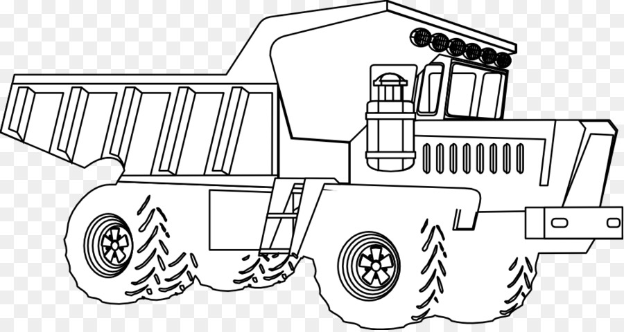 Car Line art Coloring book Drawing /m/02csf - tractor coloring pages ...