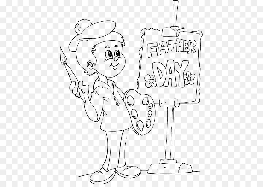 El Día del padre para Colorear libro Infantil de Dibujo - el padre y ...