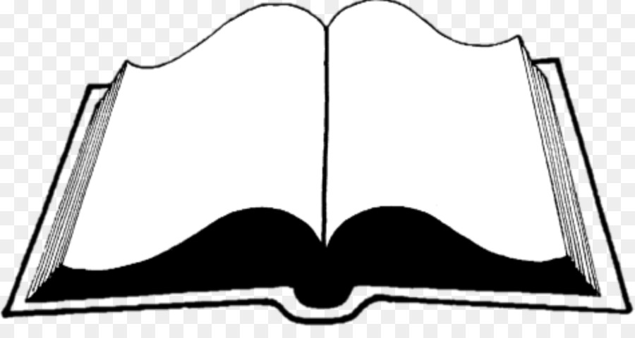 Open Books Clip Art Openclipart Black And White Illustration Book