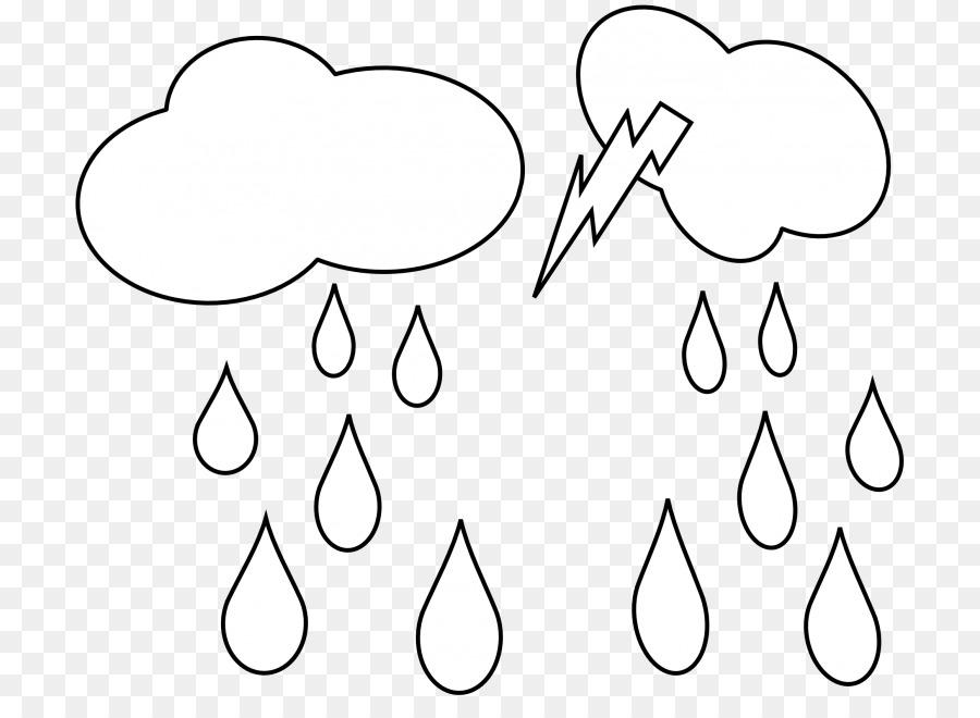 Vektör Küçük Resim Yağmur çizim Boyama Kitabı Grafikleri Yağmur