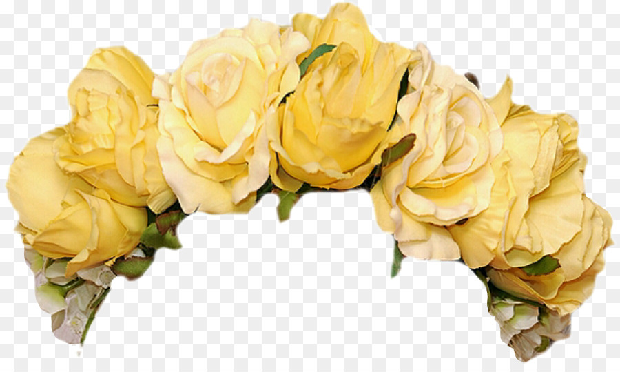 Flower Crown Garden roses Clip art Wreath - crown yellow png download -  891 529 - Free Transparent Flower png Download. 4b70936d020