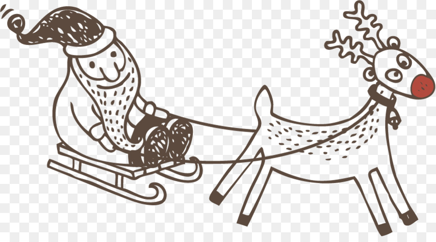 Clip Art Horse Reindeer Openclipart Sled Single Opening Png