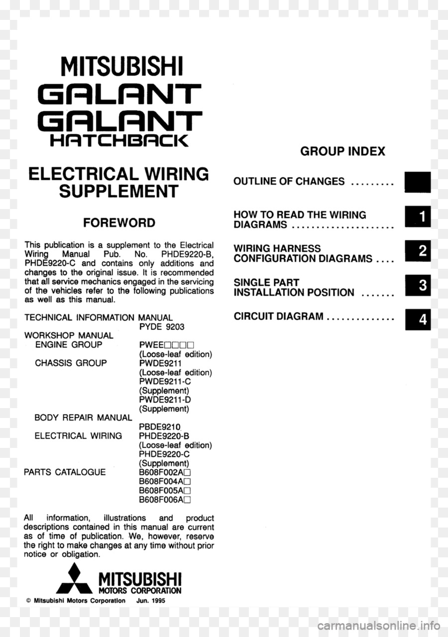 Mitsubishi Motors Document Line Brand Download Montero Wiring Diagram Free