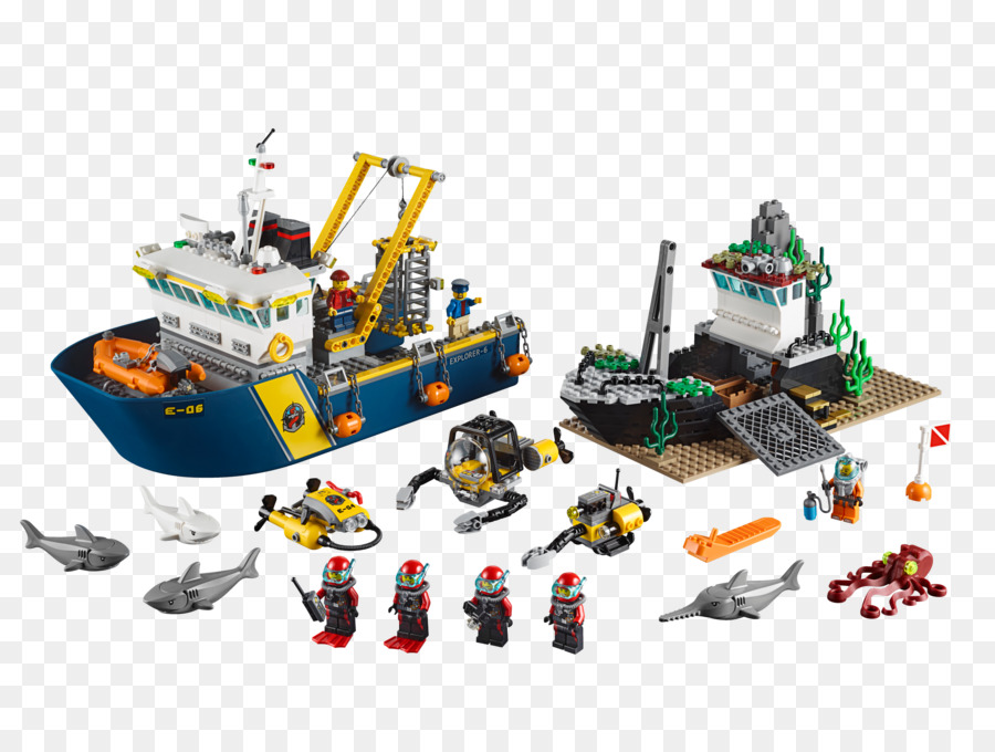 LEGO 60095 City Deep Sea Exploration Vessel Toy LEGO 60090 City Deep Sea Scuba Scooter LEGO 60096 City Deep Sea Operation Base - toy png download ...