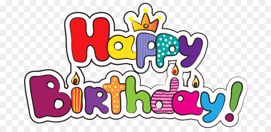 Birthday Animation Happy Text Line PNG