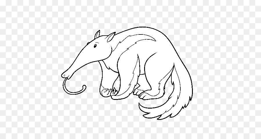El oso hormiguero gráficos Vectoriales de Ilustración de libro para ...