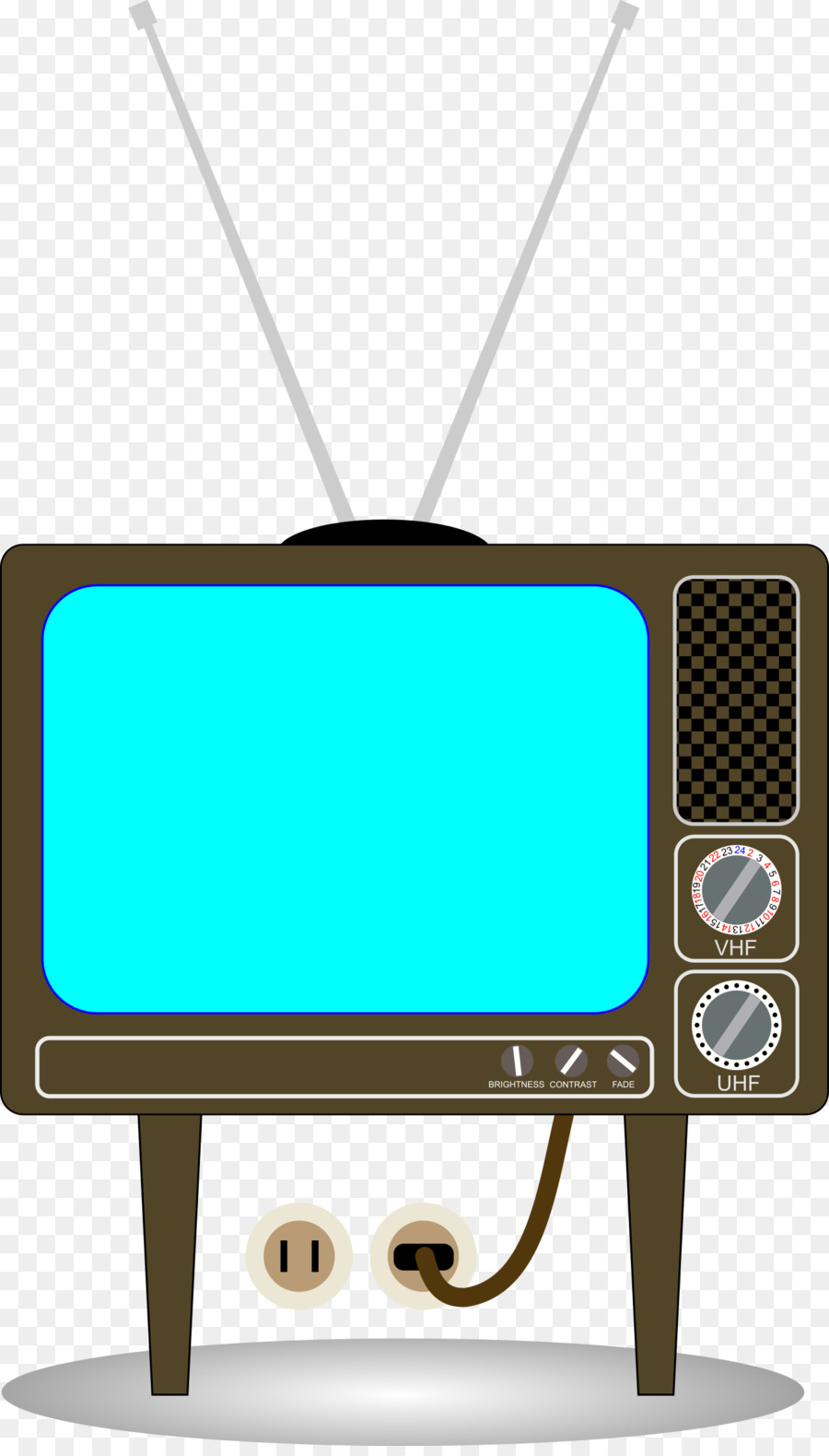 Old Fashioned Frames Clip Art Television Openclipart Free Content