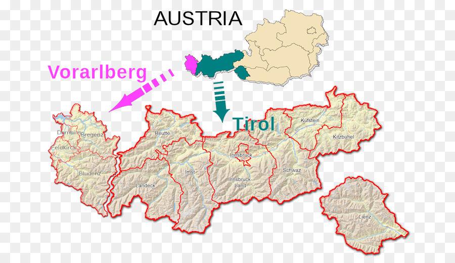 Innsbruck Vorarlberg South Tyrol Regions Of Italy Map Map Png