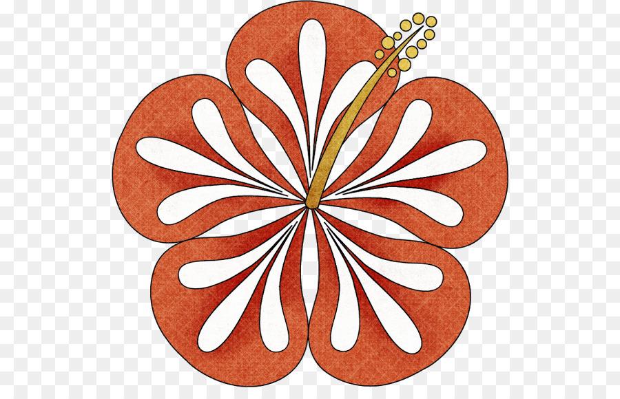Clip Art De La Langue Hawaienne Luau Fleur Fleurs A Colorier