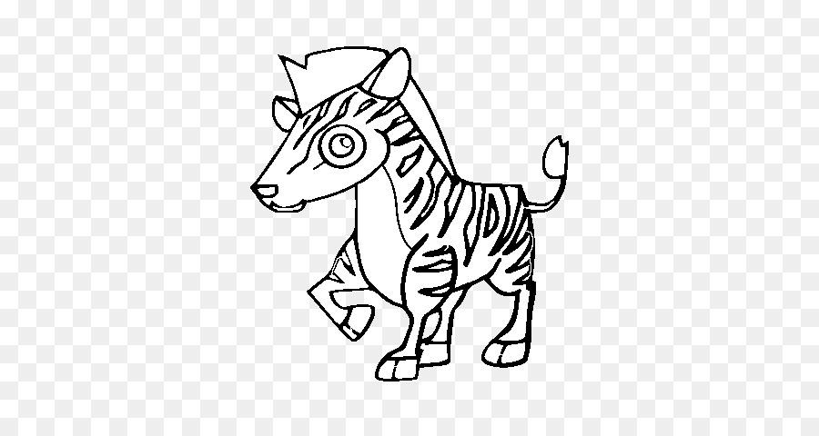 Sedikit Stripe Afrika Zebra Menggambar Buku Mewarnai Gunung Zebra