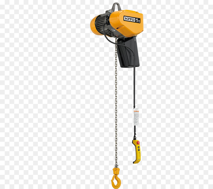 Hoist Electric Motor Chain Yellow Headgear Png