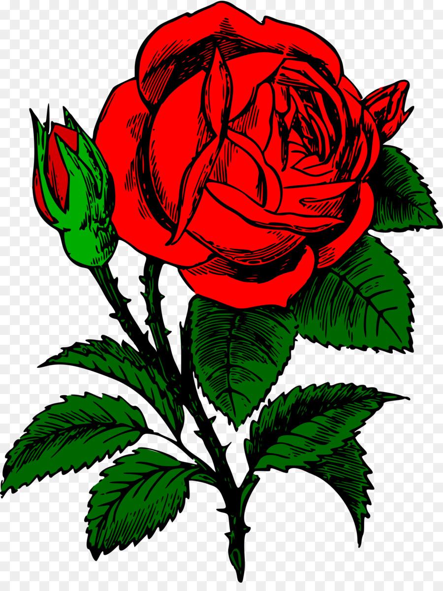 красный цветок рисунок мастеров большим