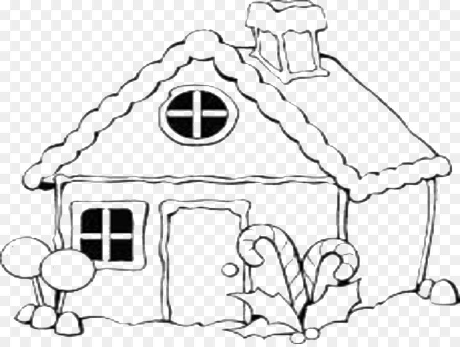 Zencefilli çörek Evi Boyama Kitabı Noel Boyama Sayfaları çizim