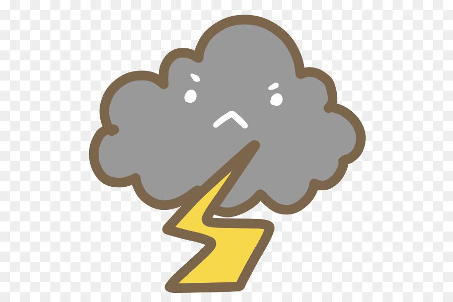 Petir Badai Petir Hujan Ilustrasi Cuaca Unduh Kartun Karakter