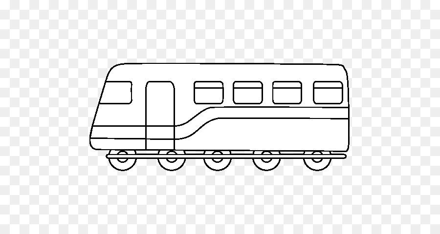Boyama Kitabı Malları çizim Tren Demiryolu Vagon Tren Png Indir