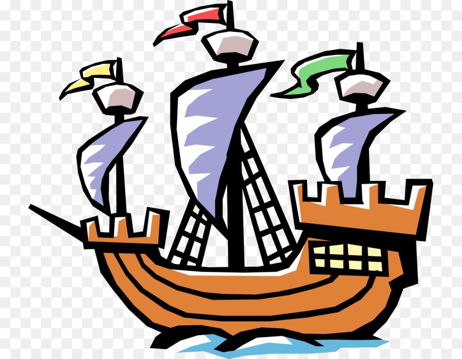 Clip Art Ship La Navidad Voyages Of Christopher Columbus Image