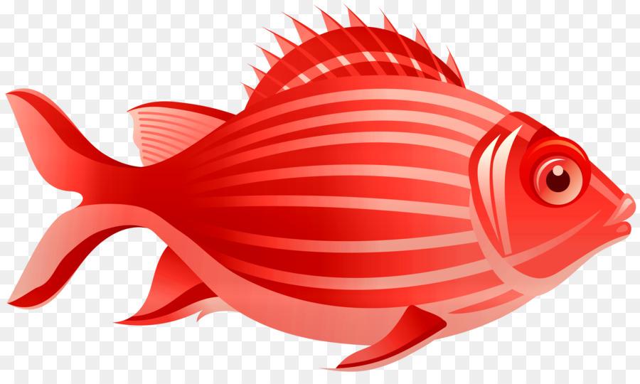 рисунок красные рыбки
