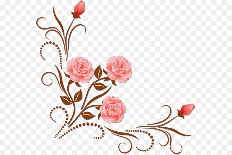 Узор цветов для открытки