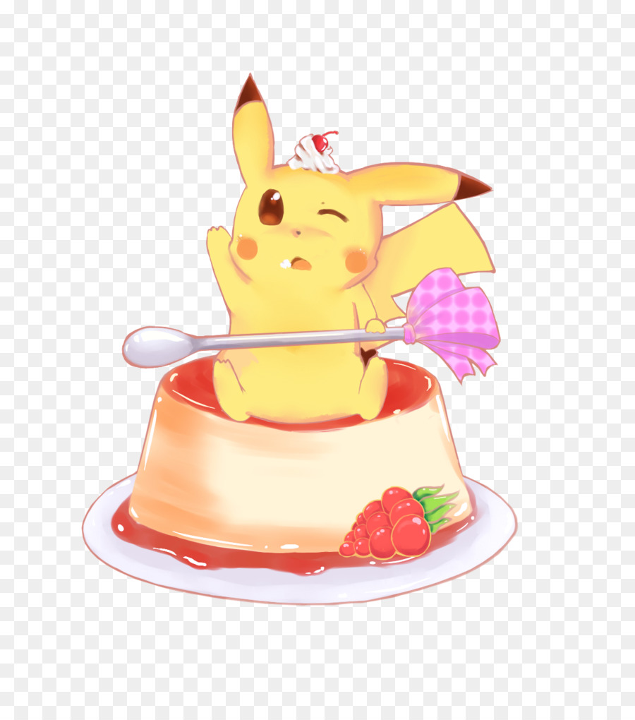 Pikachu Flan Cupcake Kawaii Pikachu Png Download 7851017 Free