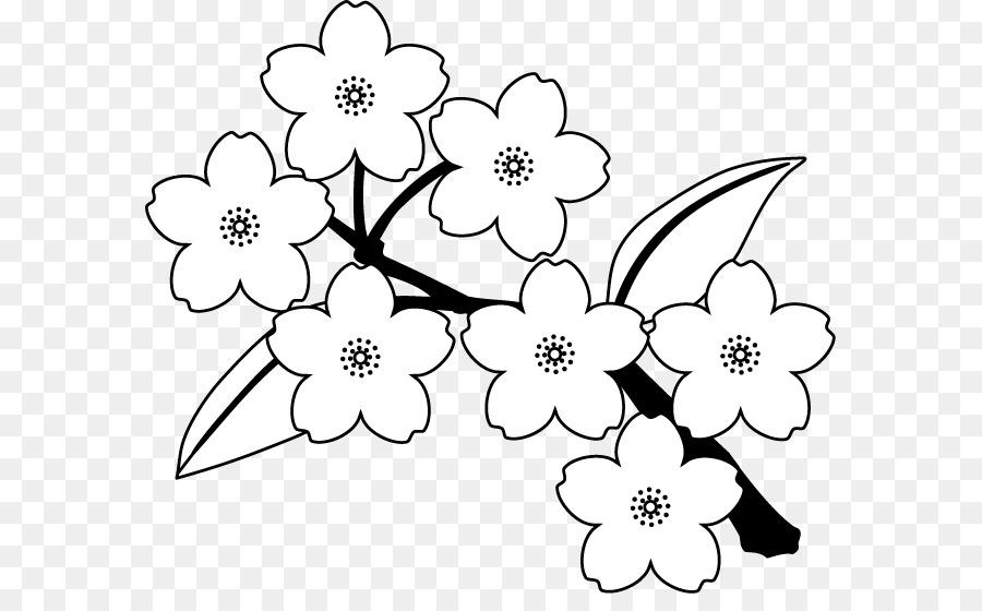 Fronteras Clip de Arte Floral, diseño de Ilustración de la flor de ...