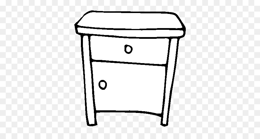 Bedside Tables Coloring book Drawing Dining room - table png ...