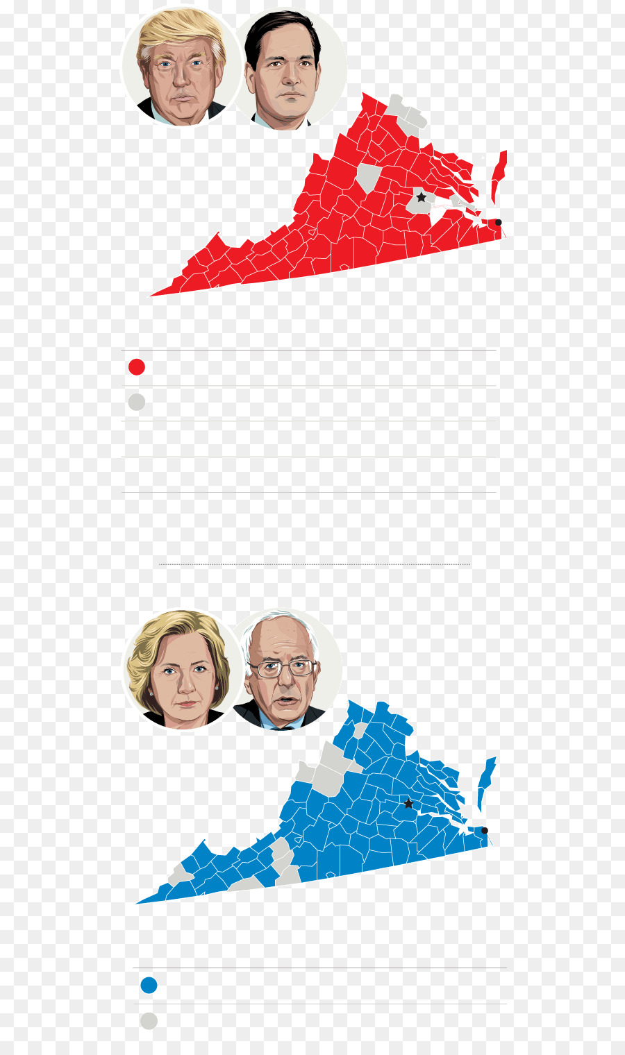 US Presidential Election 2016 Virginia Voting - delegates map png ...